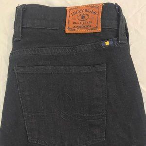 Lucky Brand 4 / 27 black denim boot cut jeans